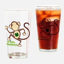 Shamrock Irish Monkey Pint Glass