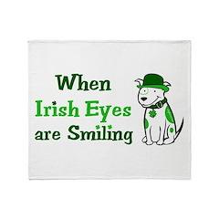 Irish Eyes Smiling Throw Blanket