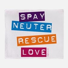Spay Neuter Rescue Love Throw Blanket