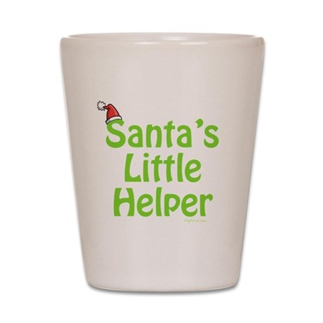 Santa's Little Helper Shot Glass