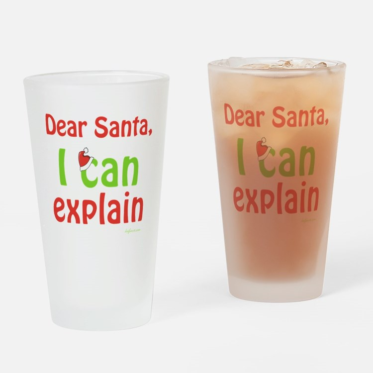 Santa I Can Explain Pint Glass