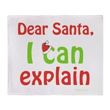 Santa I Can Explain Throw Blanket