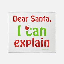 Santa I Can Explain Throw Blanket