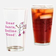 "Define ""Good"" Santa Pint Glass"