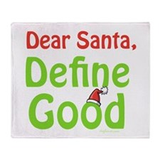 Define Good Santa Throw Blanket