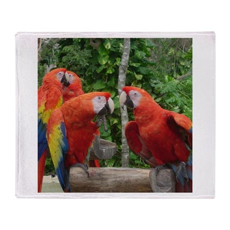 Scarlet Macaws Throw Blanket