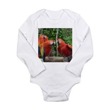 Scarlet Macaws Long Sleeve Infant Bodysuit