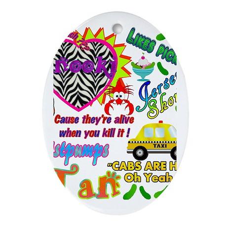 Best Seller Jersey Shore Gear Ornament (Oval)
