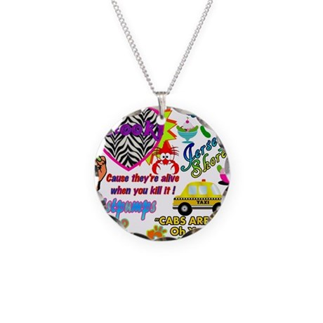 Best Seller Jersey Shore Gear Necklace Circle Char