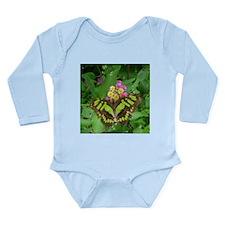 Green Butterfly Long Sleeve Infant Bodysuit