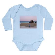 Men At Work Long Sleeve Infant Bodysuit