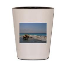 Bob Cat on the Beach Shot Glass
