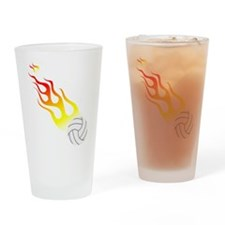 Volleyball On Fire! Pint Glass