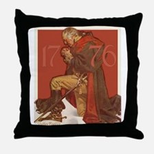 George Washington in Prayer Throw Pillow