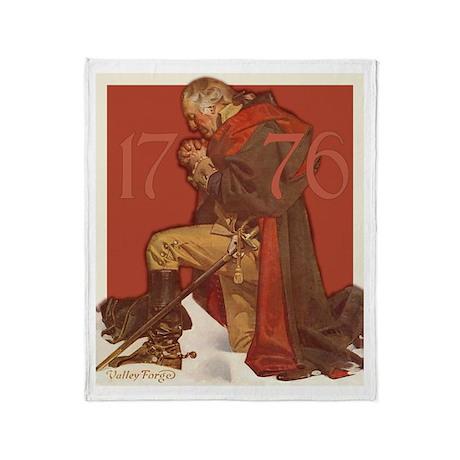George Washington in Prayer Throw Blanket