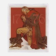 George Washington in Prayer Throw Blanket