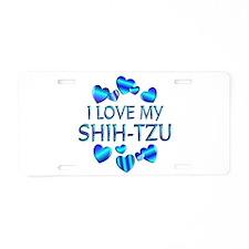 Shih-tzu Aluminum License Plate