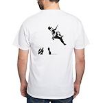 Bouldering (Back) White T-Shirt