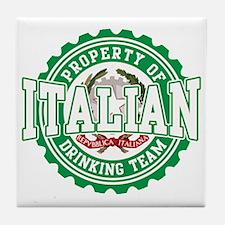 Property of Italian Drinking Tile Coaster