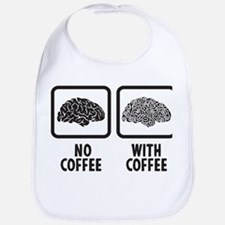 Brain With Coffee Cotton Baby Bib