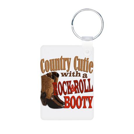 Country Cutie Aluminum Photo Keychain
