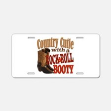 Country Cutie Aluminum License Plate