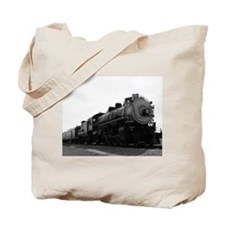 Black and White Steam Engine Tote Bag