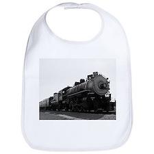 Black and White Steam Engine Bib