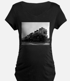 Black and White Steam Engine T-Shirt