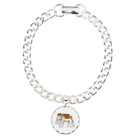 Thai Erawan White Elephant Charm Bracelet, One Cha