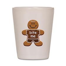 'Bite Me' Gingerbread Man Shot Glass