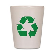 Green Recycle Shot Glass