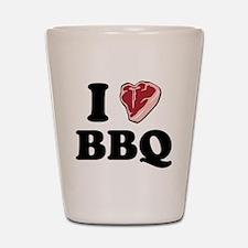 I [heart] BBQ Shot Glass