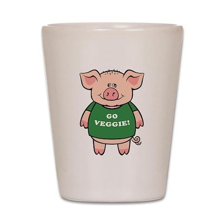 Go Veggie Pig Shot Glass