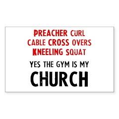 Gym is my Church Decal