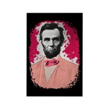 Pink Lincoln Rectangle Magnet