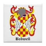 Bedwell Coat of Arms Tile Coaster
