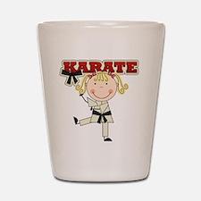 Blond Girl Karate Kid Shot Glass
