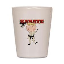 Blond Boy Karate Kid Shot Glass