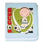 Boy Soccer Player baby blanket
