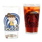 Girls Soccer Pint Glass