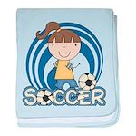 Girls Soccer baby blanket