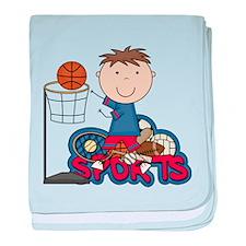 Boy Basketball All Star baby blanket