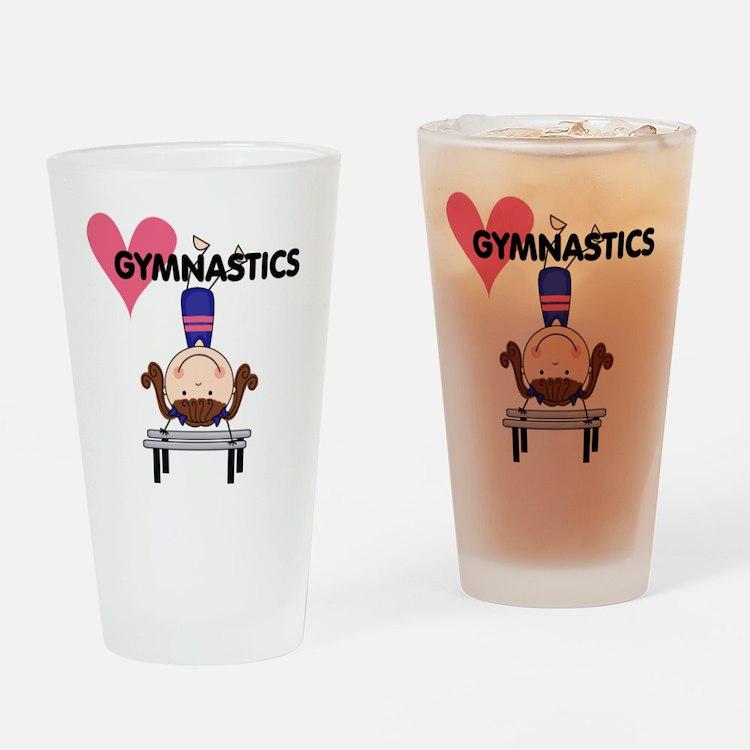 Girl Gymnast Handstands Pint Glass