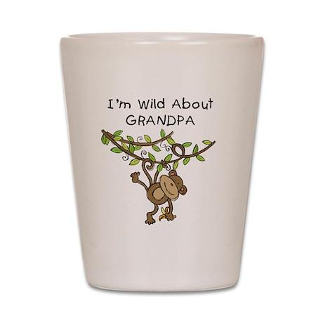 Wild About Grandpa Shot Glass