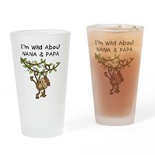 Wild About Nana & Papa Pint Glass