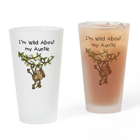 Wild About Auntie Pint Glass