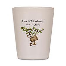 Wild About Auntie Shot Glass