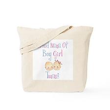 Proud Nana of Boy/Girl Twins Tote Bag
