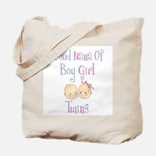 Proud Nana of Boy/Girl Twins Tote Bag